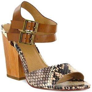 NWT MIA Block Heel  Norway snake print sandal 11